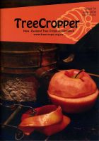 Front cover photo of red-fleshed apple Tropicana